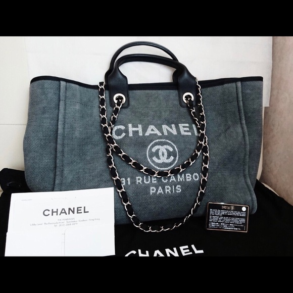 ef063782096371 CHANEL Bags | Deauville Large Tote Bag | Poshmark